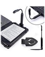 Spark luce clip LED (caricabile USB) - Nero