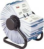 ローロデックス ローロデックス600 ブラックメタルフレーム、ロータリー式回転名刺入れ、スリーブ枚数300枚、インデックスタブ(50音44枚、アルファベット24枚、未記入10枚)付き IRBC600