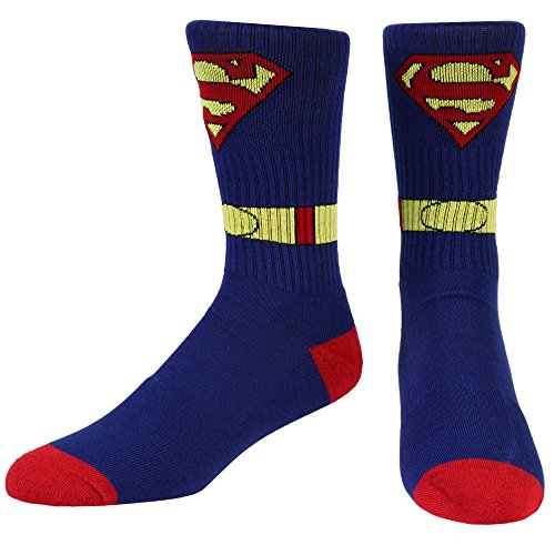 Superman Costume Athletic Crew Socks - Blue