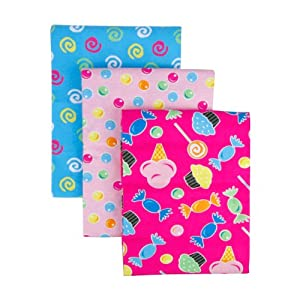 Trend Lab 3 Count Flannel Receiving Blanket Set, Candy
