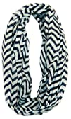 Cambridge Select Soft Chevron Sheer Infinity Scarf in Contrasting
