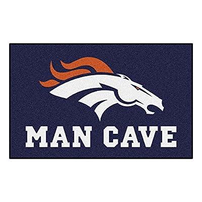 FANMATS 14298 NFL Denver Broncos Nylon Universal Man Cave UltiMat Rug