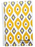 2014 bloom Calendar Year Daily Day Planner Fashion Organizer Agenda January 2014 Through December 2014 Mustard Ikat