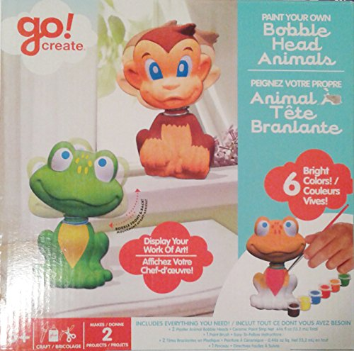 Go Create Paint Your Own Bobble Head Animals - 1