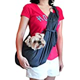 viewing(ヴューイング) 小型犬用 子犬 抱っこ紐 ひも バックスリング バッグスリング ペット PET キャリー キャリア デニム or フリース 肩紐長さ調整可能タイプ (デニム)