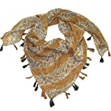 Women's Animal Print Square Snake Scarf - Stunning square cotton print snake fashion scarves for ladies