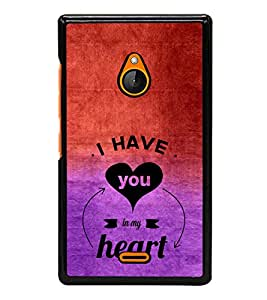 iFasho I have you in my heart Back Case Cover for Nokia X2