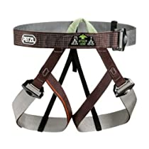 Petzl Gym Climbing Harness - Brown/Gray (One Size)
