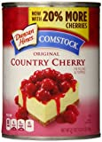 Comstock Original Country Pie Filling & Topping, Cherry,  - 21 ounce Cans (Pack of 8)