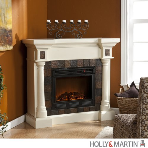 Weatherford Ivory Convertible Electric Fireplace (Ivory) (40.25