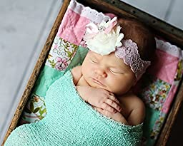Newborn Photo Prop Stretch Wrap Baby Photography Wrap-BAby Photo Props -20 Colors! (m. Mint)