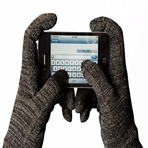 Glider Gloves - Urban Style Touch Screen Gloves (Black), Warm Touchscreen Compatiable Gloves for Iphone and Android (Large)