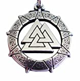 519YtYJ7CcL. SL160  Pewter Valhalla Valkyrie Valknut Pendant Celtic Norse Viking Necklace Jewelry The Knot of the Fallen