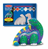 "Melissa & Doug DINOSAUR FIGURINES Decorate Your Own ""Solid-Resin"""