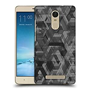 Snoogg Space Black Abstract Printed Protective Phone Back Case Cover For Xiaomi Redmi Note 3