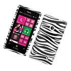 For T-Mobile Nokia Lumia 521 Windows Phone 8 Hard GLOSSY Case Zebra Black White