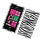 For T-Mobile Nokia Lumia 521 Windows Phone 8 Hard GLOSSY Case Zebra Black White