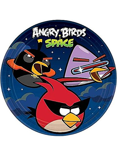 "Angry Birds Space Dinner Plates 9"" Round (8) Birthday Party Supplies"