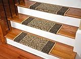 ディーン モダン DIY ブルノーズ 巻き付け型 滑り止め カーペット 階段用マット - ガーデンパス ゴールド & ブラウン (並行輸入)