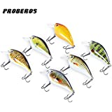 Generic Colormix : 6pcs Fishing Lure Proberos 6 Color Fishing Crankbait Hook Lure Bait Fishing Bait 6 High Carbon...