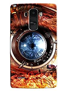 Omnam Camera Lens Printed Designer Back Cover Case For LG G4 Stylus