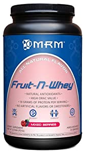 MRM Fruit-N-Whey Combines The Vitality of 10 Fruits Packed with Antioxidants, Mixed Berries, 2.03-Pound