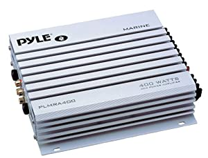Pyle PLMRA400 400-Watt 4-Channel Waterproof Marine Car Amplifier by Pyle