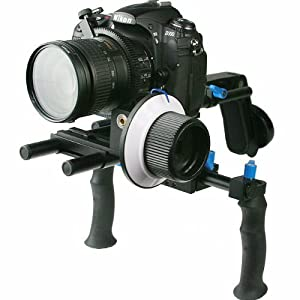 Digital DSLR Shoulder Mount Rig with COUNTER WEIGHT and Follow Focus for Camcorder Steady DSLR Video Cam Camera WYRL02SET by ePhoto