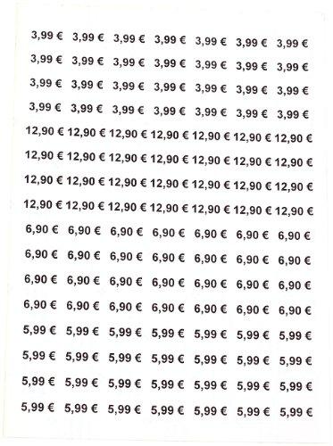 Sattleford lot de 2800 étiquettes super mini étiquettes 25,4 x 16,9 mm laser/imprimantes jet d'encre