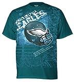 NFL Men's Philadelphia Eagles Helmitude Tee (Jade, Medium)