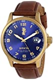 "Invicta Men's 15255 ""I-Force"" 18k Gold Ion-Plated Stainless Steel and Brown Leather Watch"