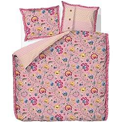 Pip Bettwäsche Floral Fantasy old pink 135x200cm 80x80cm Baumwolle Perkal