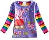 Peppa Pig Spring/fall T-shirt, Long Sleeve, Cotton,purple,4y