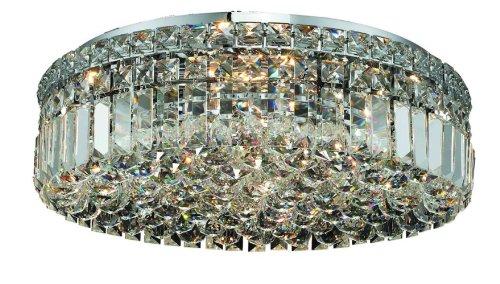 Elegant Lighting 2030F20C/Rc Maxim 5.5-Inch High 6-Light Flush Mount, Chrome Finish With Crystal (Clear) Royal Cut Rc Crystal front-689011