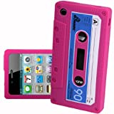 IPHONE 3G 3GS HOT PINK CASSETTE RETRO TAPE GEL COVER SILICONE CASE SKIN iTAPE From Gadget Zoo