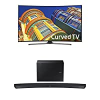 Samsung UN65KU6500 65-Inch TV with HW-J6500R Curved Soundbar