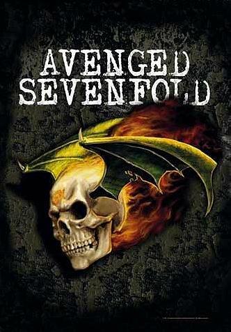AVENGED Seven fffd Bandiera/Bandiera/poster Bandiera FLYING DEATHBAT