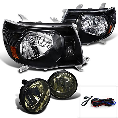 Toyota Tacoma Pre Runner X Runner, Black Headlights, Smoked Fog Lights Pair (Toyota Tacoma Black Headlights compare prices)