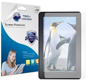 "Tech Armor Kindle Fire HD 7"" (2012 1st generation) Anti-Glare/Anti-Fingerprint (Matte) Screen Protectors [3-Pack] Lifetime Warranty"