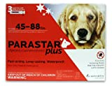 Novartis Parastar Plus Flea and Tick Control for Dogs, 45 to 88-Pound, Red