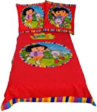 Dora The Explorer Dora and Boots Single Duvet Set Panel Print