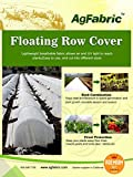 Agfabric19- 0.55oz, 6'*50',Lightweight Garden Fabric/Row Cover for Insect Barrier and Summer Shading,Seed Germination