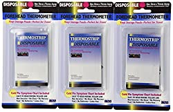 Hallcrest Forehead Thermometer Disposable, 10 Count, Pack of 3