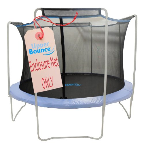 Upper-Bounce-Trampoline-Enclosure-Safety-Net-with-Sleeves-on-top-Fits-For-15-Feet-Round-Frame-Using-4-Arches-Poles-Sold-Separately