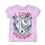 Disney Frozen Olaf I Love Warm Hugs Girls Purple T-Shirt
