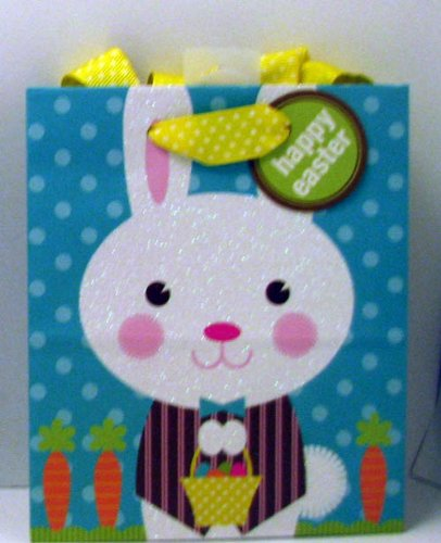 Easter gift bags fancy gift wrap hallmark easter egb8618 small blue gliter bunny gift bag negle Gallery