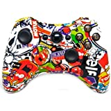 """Sticker Bomb"" Xbox 360 Rapid Fire Modded Controller 35 Mode For COD Advanced Warfare, Ghosts Black Ops 2 Cod..."