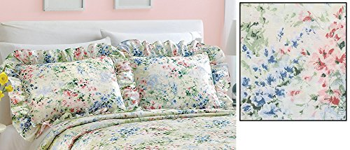 Review Floral Gardenscape Plisse Pillow Shams
