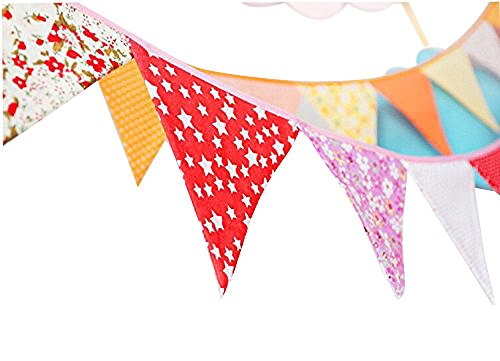 Ellen-Tool-Fabric-12-Flags-Colorful-Bunting-Banner-for-Kids-Room-Birthday-Party-Decor-Indoor-Outdoor-Decor