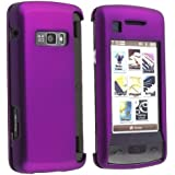 Solid Purple Rubberized Snap On Crystal Hard Case for Verizon LG enV Touch VX11000 Cell Phone